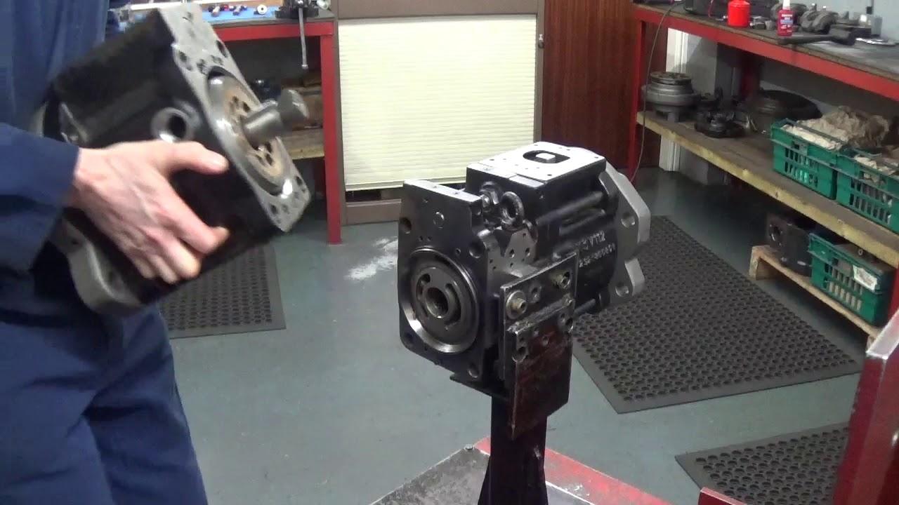 Kawasaki K3v112dt Hydraulic Pump Strip, Clean, Rebuild And Test  Hydraulic  Repair Tv 12:58 HD