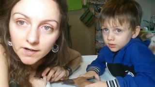 Занятие с глухим ребенком - учим стихи