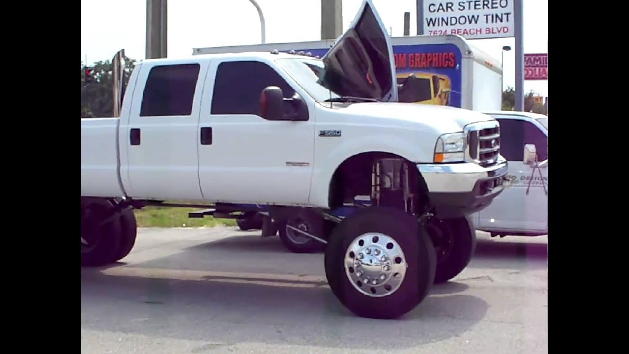 Ford F 550 Super Lift With Airbags Lambo Doors And Custom