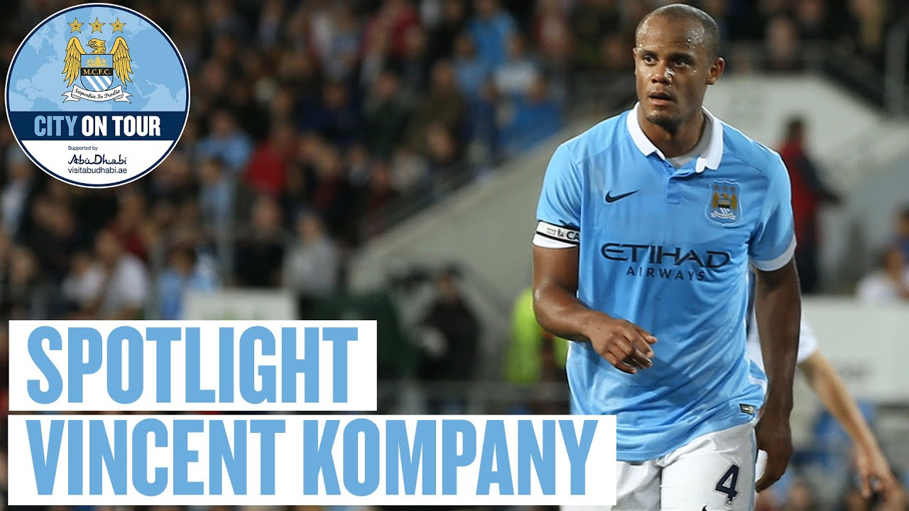 Spotlight on Vincent Kompany during Melbourne City v Man City game