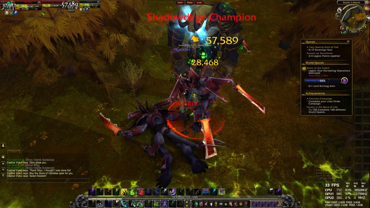 World Quest Suls Of The Vrykual Wow Legion Hd 1080p 60fps Youtube