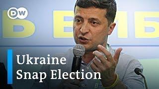 Ukraine: Zelenskiy party set to win snap election | DW News