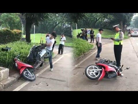 Bripka Oky Tetap Tenang Tilang Pengendara yang Hancurkan Motor, Polres Tangsel Akan Beri Penghargaan