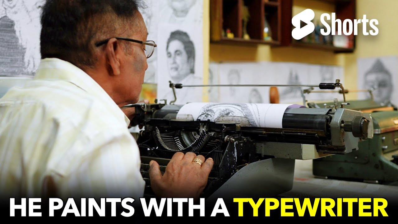 He Paints with a Typewriter?!