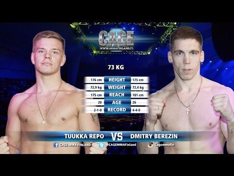 CAGE 39 Tuukka Repo vs Dmitry Berezin Full Fight MMA