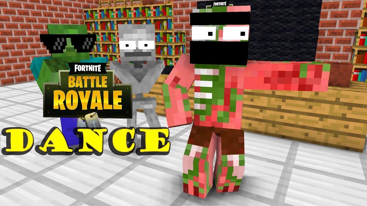 Monster School Fortnite Dance Challenge Minecraft Animation
