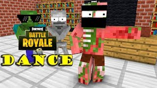 Monster School Fortnite Dance Challenge Minecraft Animation