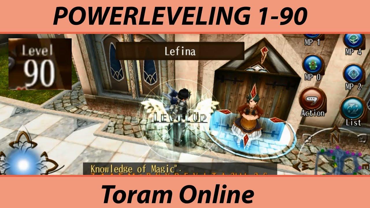 Toram Online - Powerleveling 1-90 - YouTube