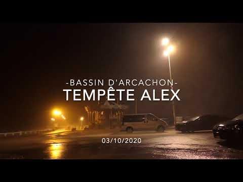 Tempête Alex sur le Bassin d'Arcachon