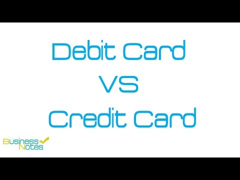 Difference Between Debit Cards And Credit Cards