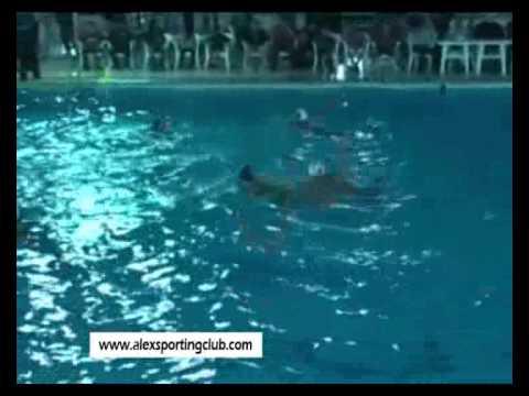 مباراة كرة الماء بين سبورتنج والشمس تحت 18 سنه