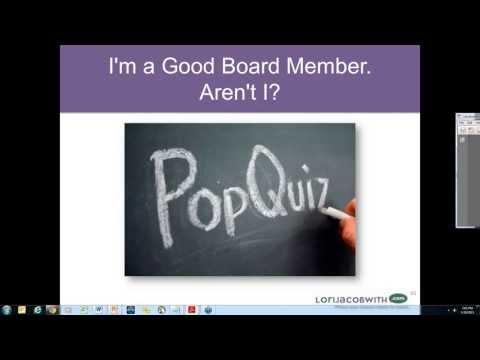 I'm a Good Board Member, Aren't I? 5 30 13 6 00 PM