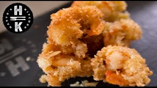 Coconut king Prawns with a sweet chilli, orange marmalade