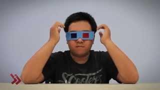Cara Membuat Kacamata 3D dari Kertas Karton dan Plastik Berwarna