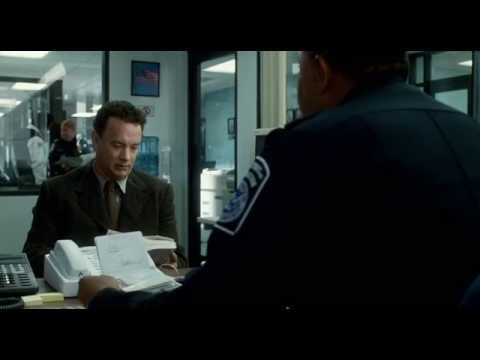 The Terminal 2004  officer Thurman questioning Victor  Navorski
