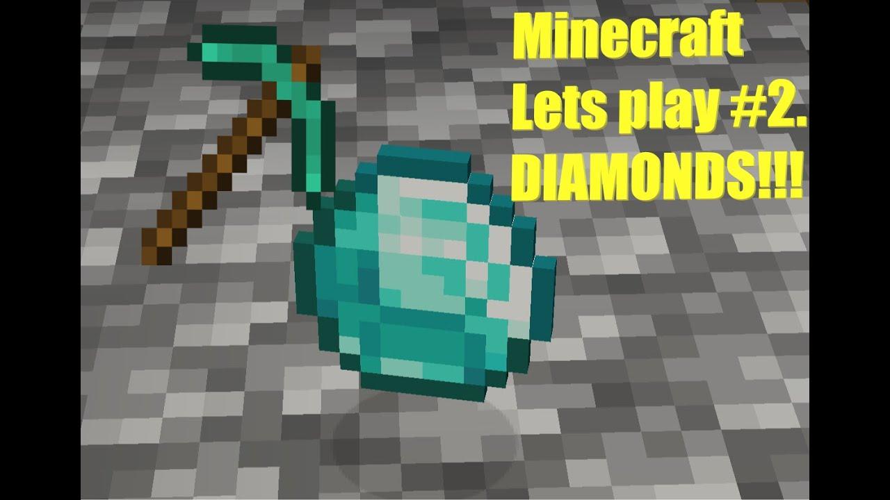DIAMONDS!!!! Minecraft lets play #2