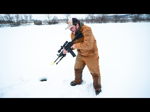IDIOTS Take GUNS Ice Fishing!! (DO NOT ATTEMPT)
