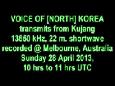 VOICE OF [NORTH] KOREA shortwave 28 April 2013