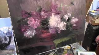 Научиться рисовать букет сирени, уроки живописи для взрослых(Полная версия видео и новые видеоуроки на http://saharov.tv Записаться на мастер-класс +7-915-331-60-53 КАЧЕСТ..., 2014-04-26T11:23:16.000Z)