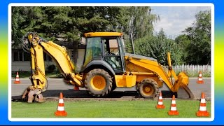 Construction Vehicles and Tractors by Machines for Kids