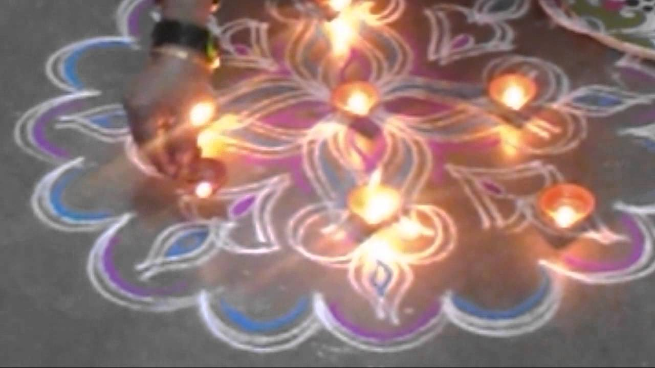 My double line kolam for Diwali   Karthigai Deepam only ...