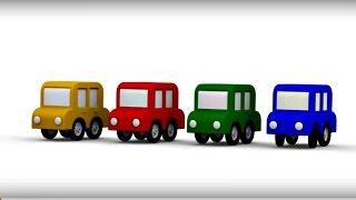 Lehrreicher Zeichentrickfilm - Die 4 kleinen Autos - Wir bauen einen Hubschrauber