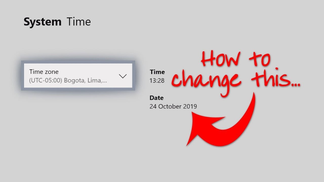 Time xbox one how change to and date How to