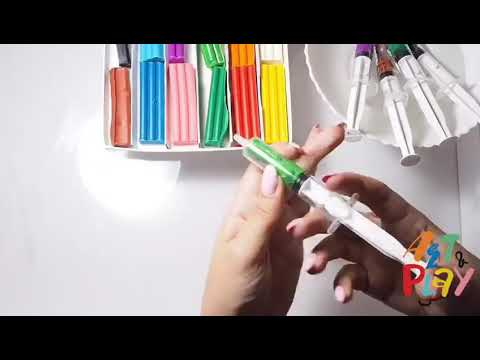 Play doh tree craft for kids at the Art Light Activity Box