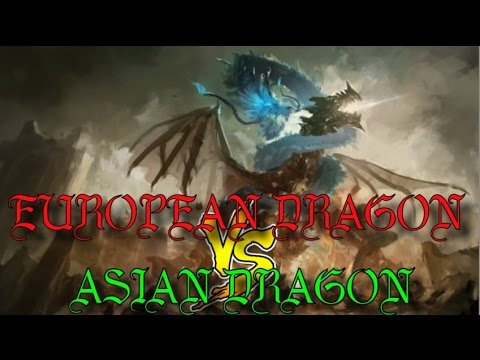 European Dragons VS Asian Dragons - Cultural Comparison