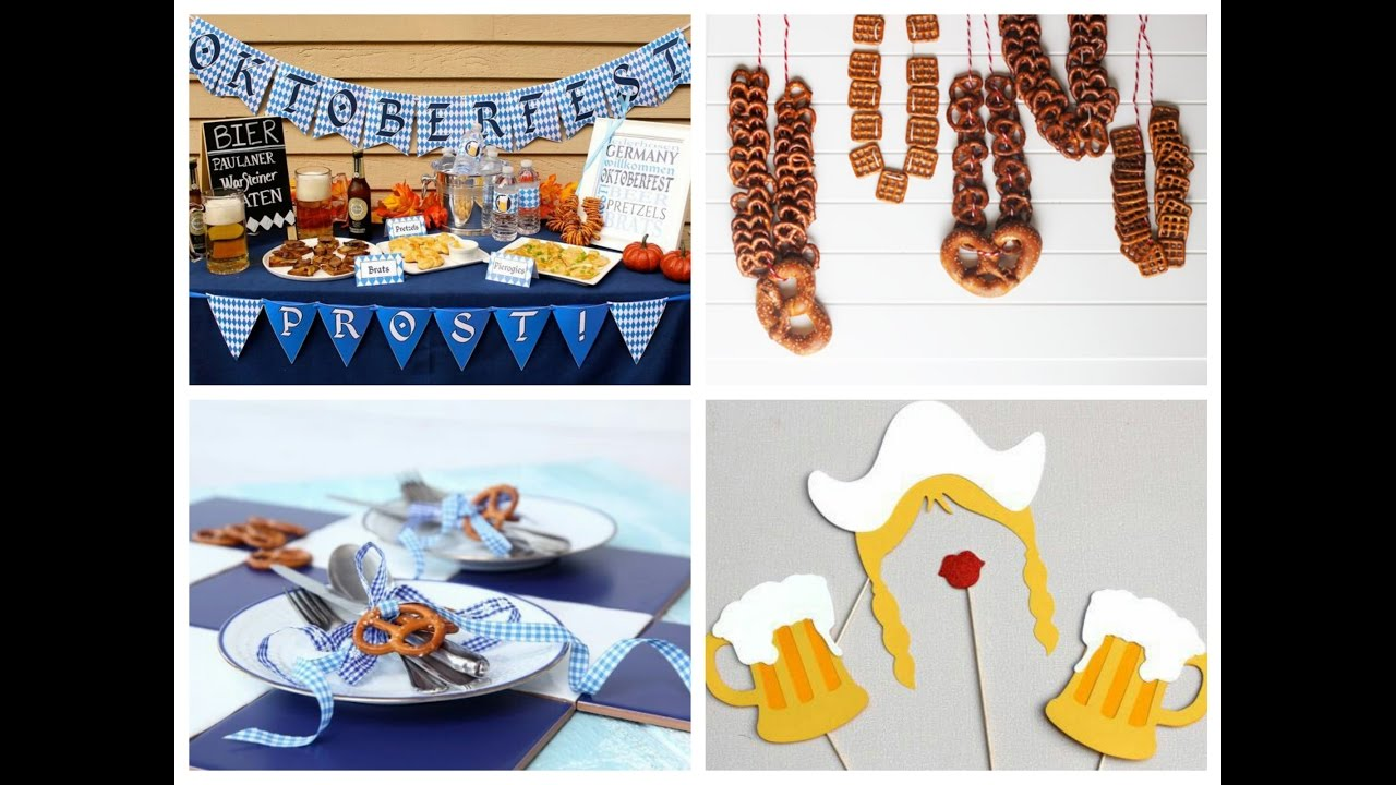 Beer party ideas oktoberfest decorations ideas youtube for R b party decorations