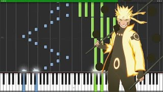 "[Naruto Shippuden Opening 19] ""Blood Circulator"" - AKFG (Synthesia Piano Tutorial) [MIDI + Sheets]"