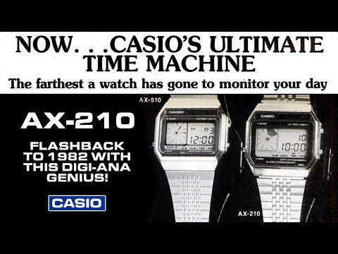 Casio's AX-210 - A Vintage, Retro Watch! Flashback To 1982 With This Digital-analog Classic.