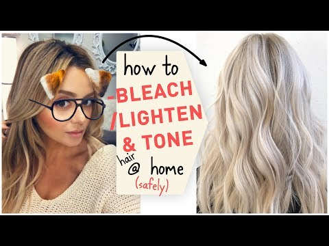 How To Bleach / Lighten & Tone Hair At Home (Safely)