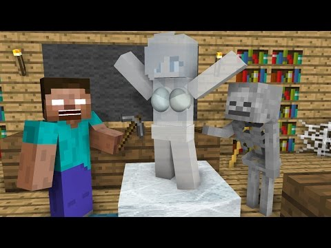 Thumbnail: Monster School: Ice Sculpting - Minecraft Animation