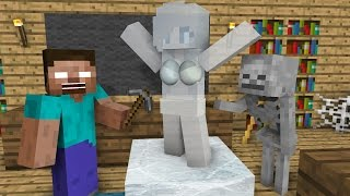 Monster School: Ice Sculpting - Minecraft Animation