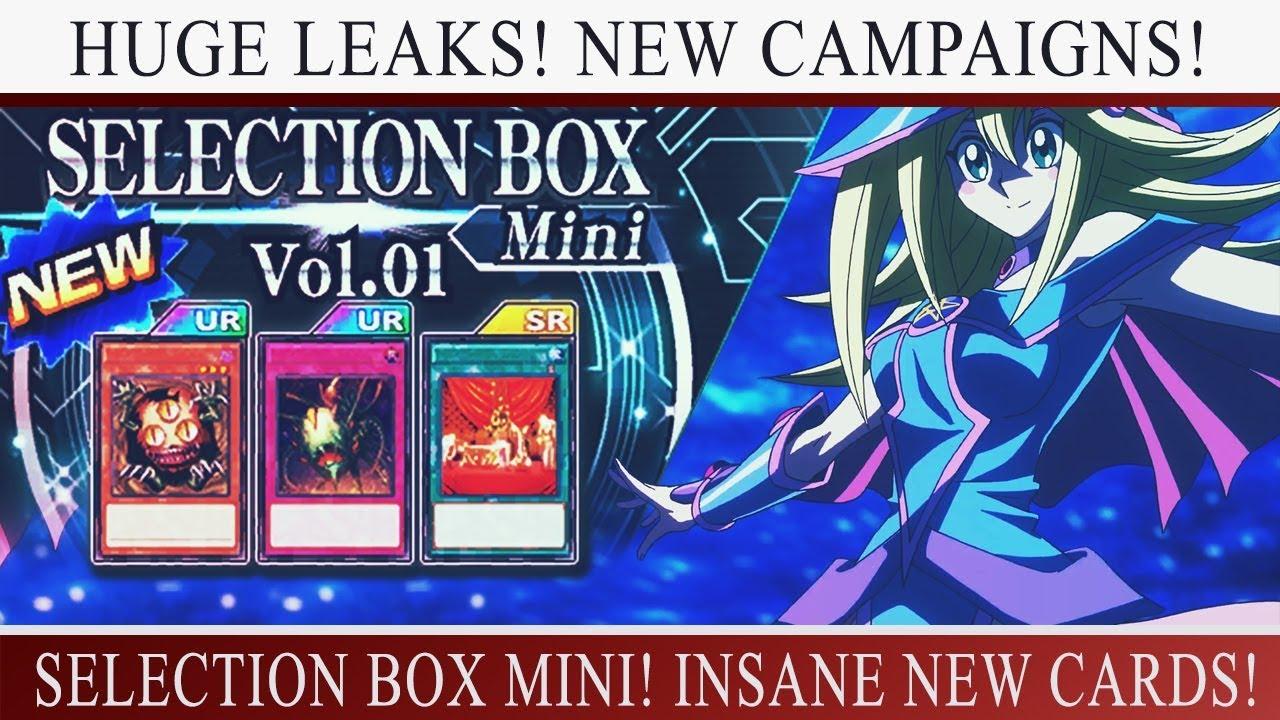 Yu-Gi-Oh! Duel Links] HUGE LEAKS! SELECTION BOX MINI! SANGAN