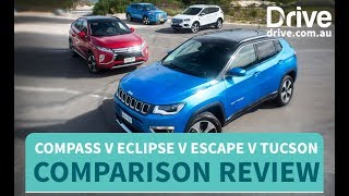 Ford Escape v Hyundai Tucson v Jeep Compass v Mitsubishi Eclipse Cross Comparison
