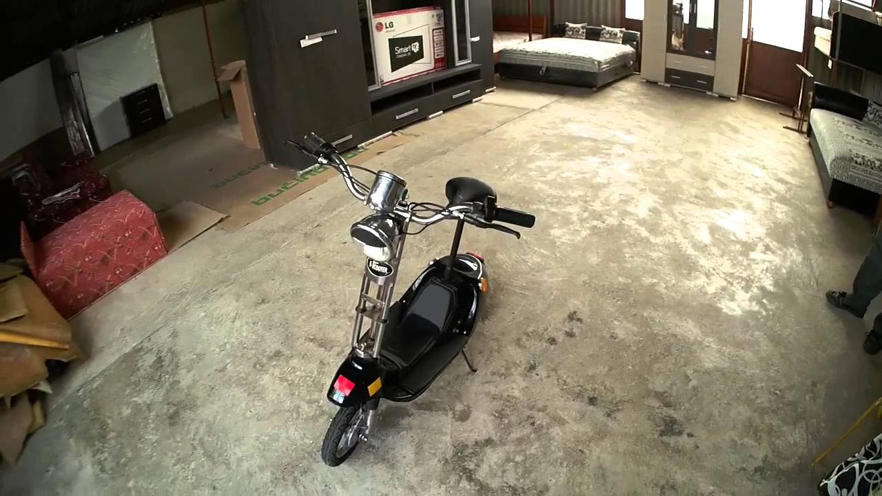 e scooter elektromos roller 24 v 250 watt youtube. Black Bedroom Furniture Sets. Home Design Ideas