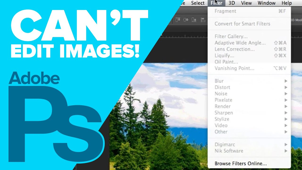 Can't Edit Image in Photoshop - Indexed Color Image |