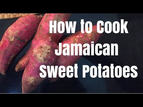 How To Cook With Jamaican Sweet Potatoes Youtube