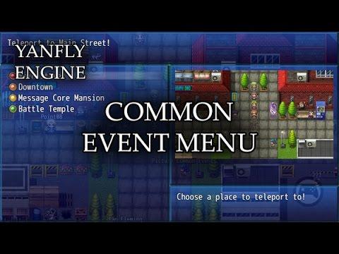 YEP.98 – Common Event Menu – RPG Maker MV