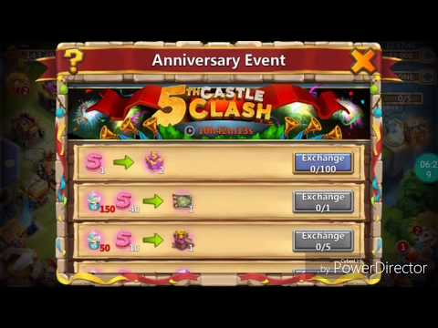 Castle Clash!! Finally It's Over😱😱(IGG 5th Anniversary Event).  Trading Event Items For Hero Skins