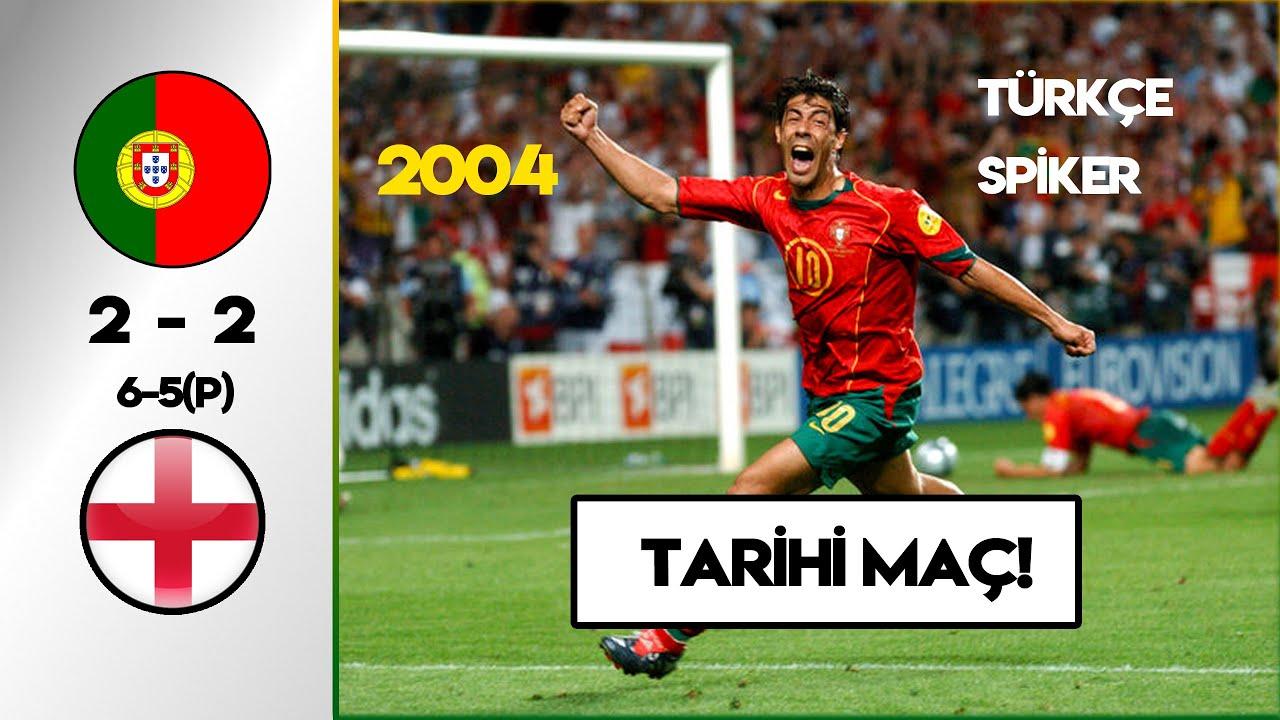 Efsane Portekiz-İngiltere Maçı | Türkçe Spiker - EURO 2004