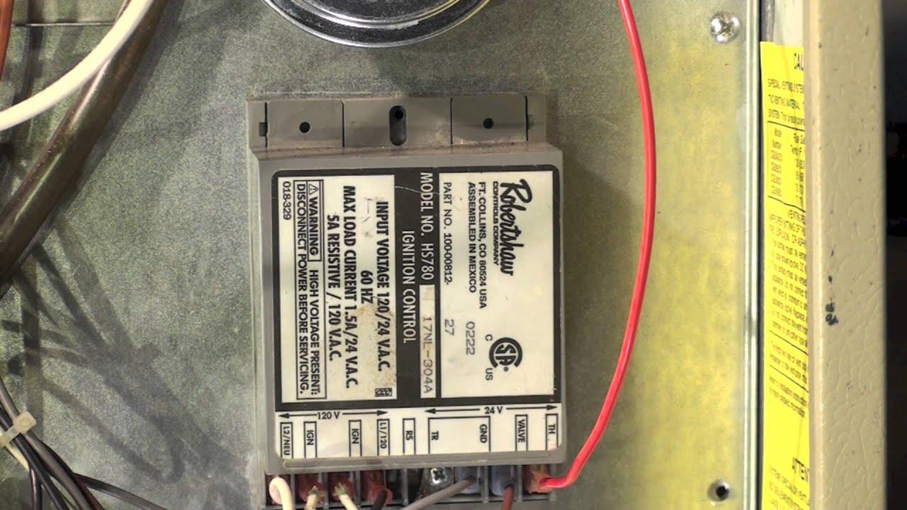 Coleman Model Cgu Gas Furnace No Fire Inducer Runs Part