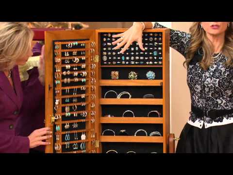 Gold & Silver Safekeeper Double-Sided Jewelry Armoire by Lori Greiner with Jennifer Coffey