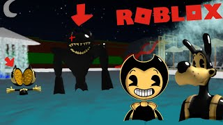 BENDY AND BORIS GET TRAPPED IN A WATERPARK! (BATIM ROBLOX)