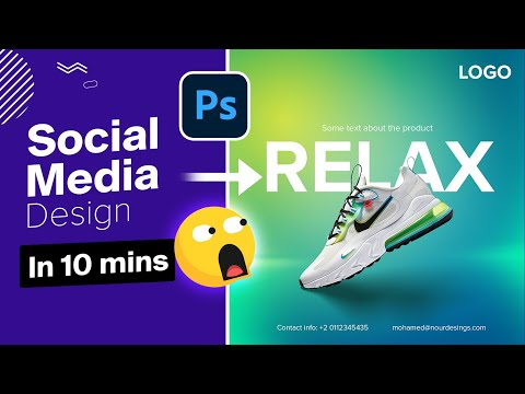 10 mins to create this social media post in Photoshop ✅   advertising poster