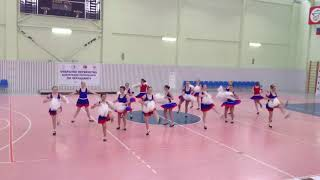 Cheerleading. Чир спорт. Команда Red Star.