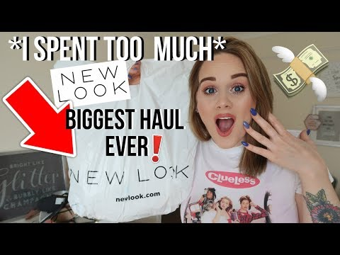 MASSIVE NEW LOOK HAUL *BAGS, CLOTHING, SHOES, MAKEUP & ACCESSORIES*