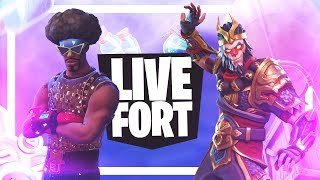 LIVESTREAM #173-SECRET SKINS AT FORTNITE! GAMES WITH FRIENDS AND SUBS FOR THE NIGHT OUT!